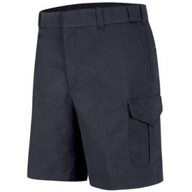 Horace Small Men's 6 Pocket Navy Cargo Shorts - Dark navy work  shorts with cargo pockets on each leg, belt loops, quarter hip front pockets and zipper front. Front View