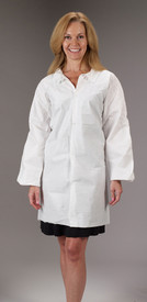 Lakeland MicroMax NS Lab Coat with Snap Closure -  MicroMax NS white Disposable Lab Coat with Snap Closure