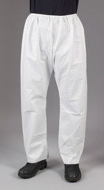 Lakeland MicroMax NS Pants with Elastic Waist - White Disposable Pants with Elastic Ankles and Waist