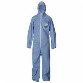Lakeland SafeGuard SMS Economy Coverall - White Disposable Coverall with Zippered Front, Hood, and Elastic Wrists and Ankles