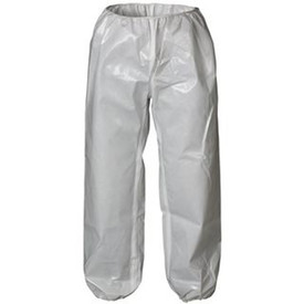 Lakeland C72300 ChemMax 2 Sealed Seam White Pants - white chemical pants with elastic waist and ankles.