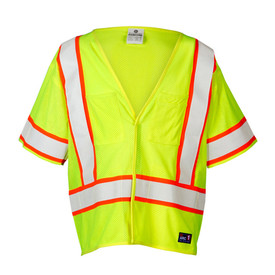 ML Kishigo F312 FR Hook and Loop Class 3 Hi-Viz Mesh Vest