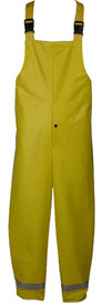 Nasco FR CAT 2 Utility Yellow Rain Overall -  Yellow Rain Bib Overall with Straps and reflective tape around each ankle