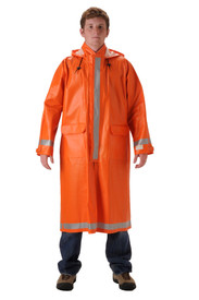 NASCO 1103CBO ArcLite Orange FR Arc CAT 2 Utility Long Rain Coat