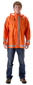 NASCO 1103JBO ArcLite Orange CAT 2 Waist Length Rain Jacket