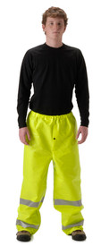 NASCO 1501PFY ArcLite NFPA70E CAT 1 Class E Yellow Rain Pants