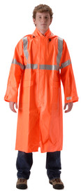 NASCO 1503CFO ArcLite Class 3 FR CAT 1 Orange Long Rain Coat
