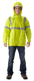 NASCO 1503JFY ArcLite Hi-Viz Class 3 FR CAT 1 Yellow Rain Jacket