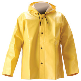 Nasco Lightweight Yellow Jacket with Hood -  Yellow Rain Jacket with snap front closure and hood