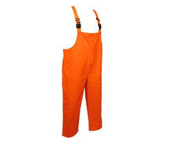 NASCO Sentinel FR NFPA70E CAT 2 Orange Rain Bib Overall