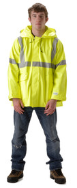 NASCO 4503JFY Sentinel FR CAT 2 Class 3 Yellow Rain Jacket