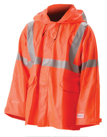 NASCO 4503JFO Sentinel FR ANSI High-Viz Orange Rain Jacket