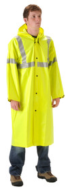 WorkChoice 513CFY221 ANSI 107 Class 3 Yellow Long Rain Coat