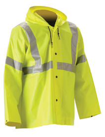 WorkChoice 513JFY221 ANSI HiVis Class 3 Yellow Rain Jacket