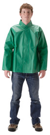 NASCO AcidBasic 52JG Green 11 oz Waist Length Rain Jacket