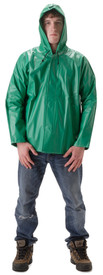 NASCO AcidBasic 512JG Green Waist Length Hooded Rain Jacket