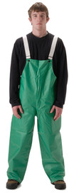 Heavy Duty Waterproof Bib Overall -  - Front View of Young Man wearing a NASCO green bib overalls