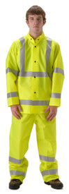 NASCO WorkLite 80JFY455 HiVis 3M Tape Class 3 Rain Jacket