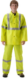 Nasco Worklite ANSI 107 Hi Viz Class 3 Yellow Rain Jacket