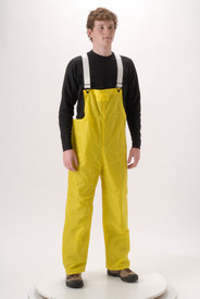 NASCO WorkLite 81TY Lightweight Yellow Poly Rain Bib Overall