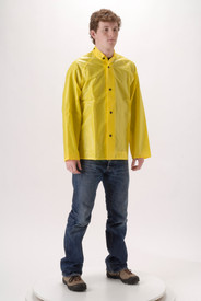 NASCO WorkLite 80JY Lightweight Yellow Collar Rain Jacket