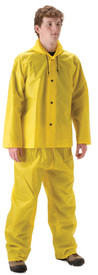 WorkLite 81JY Lightweight Yellow Attached Hood Rain Jacket