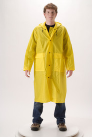 NASCO WorkLite 81CY468 4.5 oz Long 48 In. Yellow Rain Coat