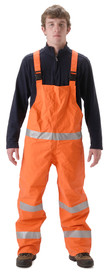 NASCO PetroLite 9000TBO245 FR CAT 2 Orange Rain Bib Overall