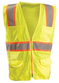 Occunomix Class 2 Solid Mesh 10 Pockets Safety Vest