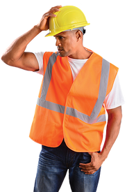 Occunomix Class 2 Mesh 2 Inch Tape HV Orange Safety Vest