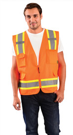 Occunomix Class 2 Solid 2 Tone Surveyor Safety Vest