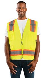 Occunomix Class 2 Mesh 2 Tone Surveyor Safety Vest