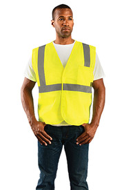 Occunomix ECO-IM Class 2 Hi-Viz Mesh 2 Pockets Safety Vest