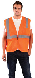 Occunomix ECO-IMZ Class 2 Mesh Zipper 2 Pockets Safety Vest