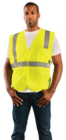 Occunomix ECO-IS Class 2 Solid 2 Pockets Safety Vest