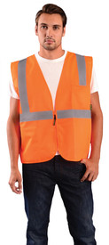 Occunomix ECO-ISZ Class 2 Solid 2 Pockets Zipper Safety Vest