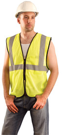 Occunomix ECO-GCZ Class 2 Hi-Viz Mesh Zipper Safety Vest