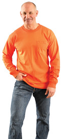 Occunomix LUX-300LP Cotton Long Sleeve Hi-Viz T-Shirt