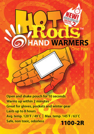 Occunomix 1100-80D Hot Rods Hand Warmers 40 Pair Display
