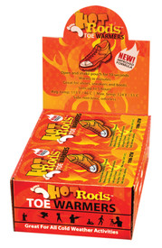 Occunomix Hot Rods Toe Warmers 40 Pair Display - Display of Occunomix packs of Hood Rods toe warmers