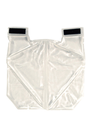 Occunomix Spare Cooling Packs for Nylon Cooling Vest - Square clear pad divided into clear gel sections and has 2 Velcro taps on left top and right top side to hook over shoulders.