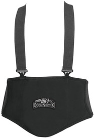 Occunomix Premium Lumbar Support - Occunomix Black Velcro wrap back support shaped on back like a v