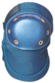 Occunomix Comfortable Mid Level Support Hard Knee Pad - Occunomix round hard Blue cap knee pad on molded blue fabric Velcro hook & loop