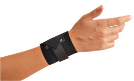 Occunomix Woven Hook & Loop  Wrist Assist Support - Occunomix Black strap with adjustable Velcro band connection on wrist