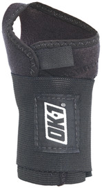 Occunomix Right Hand Carpal Tunnel Terry Lined Wrist Wrap - Occunomix Black wrap around Velcro wrist strap with opening for thumb for carpal tunnel syndrome relief