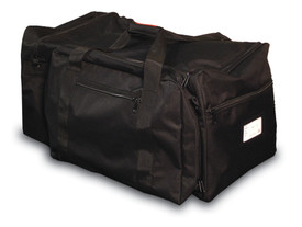Occunomix Black Large Gear Bag  - Occunomix Black heavy duty multiple zipper pocket duffle gear bag with handle and shoulder straps