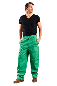 Occunomix MIG201V FR CAT 1 Green Welding Pants