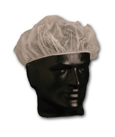 PIP Disposable Bouffant White Polypropylene Head Cover - Clear disposable elastic fit hair net head cover.