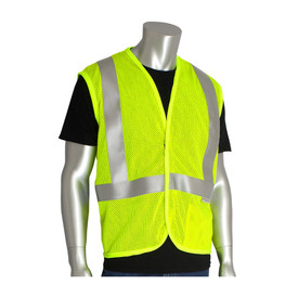 PIP 305-2100 ANSI 2 FR Lime Mesh Hook & Loop Vest