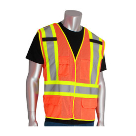 PIP 302-0212 BreakAway Class 2 Mesh 3 Pockets Safety Vest